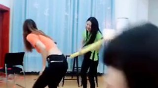 Chinese spanking show