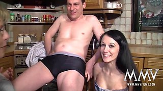 Meli Deluxe in German Teen assists Mature Couple - MMVFilms