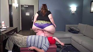 SSBBW Purple Panties Fat Ass