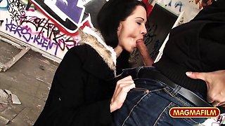 Aymie Eng in German Mom Public Berlin - MagmaFilm
