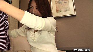 Japanese housewife, Honoka Sakura is sucking dick uncensored