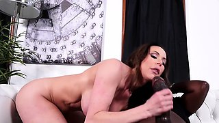 Kendra Lust sucks and rides monster black cock