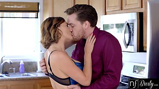 Big titted housewife Krissy Lynn has a great sex in the kitchen