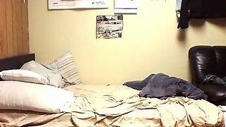 Ebony college couple hidden cam sextape