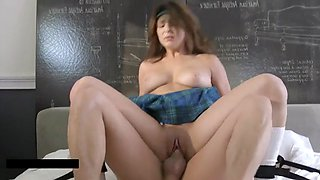 Hot school girl bound and fucked