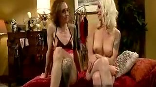 Blonde Fucks Crossdresser With Strapon