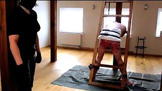 Amateur slave gets restrained and spanked for bad behavior