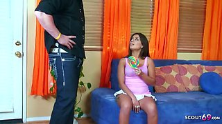 Step daugther seduce dad to get first anal fuck by big dick