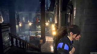 Resident Evil 2 Remake Claire Redfield is The Naughty Police Officer PC Mod