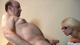 Teens blowjob and cumshot compilation with old men