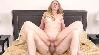 doggystyle, stepmom helps young son, taboo sex