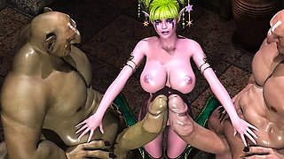 3D Busty Elf Girl Wrecked by Ogres!