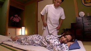 Hottest Japanese chick Ai Sayama in Amazing JAV censored Swallow, Big Tits scene