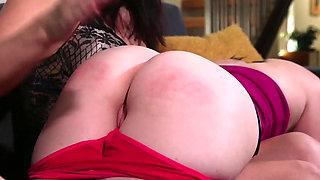 Lesbian bondage slave punished and fucked