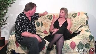 Chubby french cougar hard anal fucked