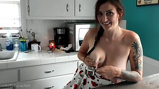 Mommy&#39s kitchen upskirt &amp milk