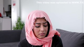 Brunette Arab undressed to a goal for a passionate flogging on the cou...