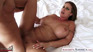 Beauty girlfriend Eva Notty gets big tits fucked