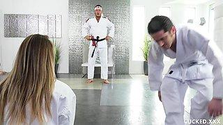 Stunning Brett Rossi gets her cunt fucked by a horny stranger