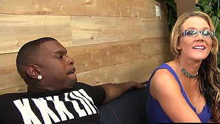 Cuckold watching Hotwife Nikki Sexx taking a BBC banging