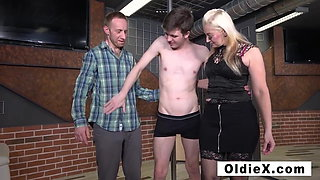 Married couple find a twink to play with