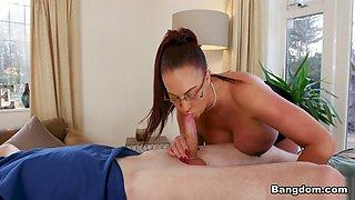 Emma Butt in Big Tit Step-Mom Gets a Massage - BangBros