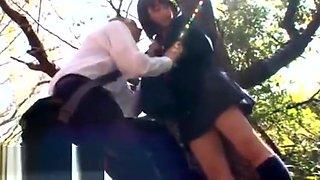 Jav 18yo schoolgirl outdoor sex with bf