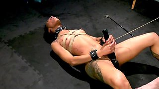 Splendid Mulatto gets strapon in muff by white mistress