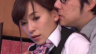 Kaho Kasumi is a hot secretary seduced by an insatiable boss