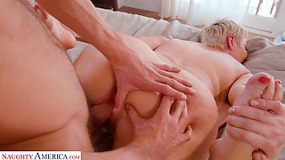 Sexiest cougar Ryan Keely bangs her stepson while husband on a business trip