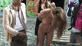 Busty woman ends up shared by men in dirty bang bang tryout