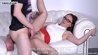 Brunette MILF Wendy Moon strokes a cock and gets her pussy licked