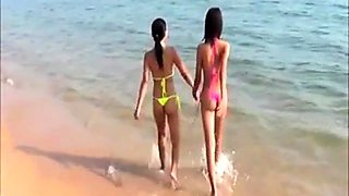 Sexy  Young Thai girls in thong bikini