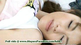 Yuzuru innocent beautiful japanese girl gets nipples licked