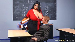 BBW teacher leaves younger hunk to destroy her wet vagina