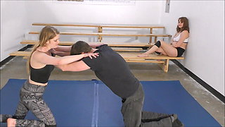 Johnny vs Monroe 16! Real Competitive Mixed Wrestling