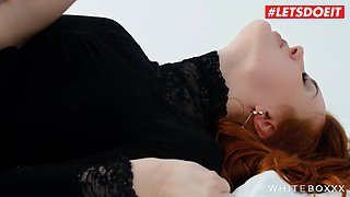 letsdoeit - hot redhead teases, rides and sucks cock passionately