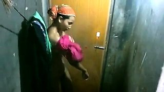 Pretty Indian girl exposes her lovely tits on hidden cam