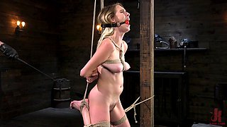 Full dominance and brutal sex for obedient Cadence Lux