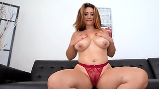 Britt James comes to porn studio for her first time audition