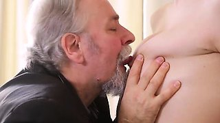 Rita\'s teacher is one horny old man, so she lets him lick