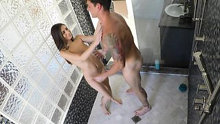 Step-Sister Ambushed In The Shower