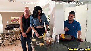 50 Y.o. Busty Cougar Cheating With A Young Handyman - Elisa Morales And Sean Lawless