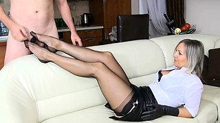 Cfnm femdom hotties shave fetish cfnm loser for domination