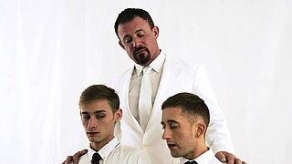 MissionaryBoyz - Hunk Priest Breeding 2 Teen Twinks