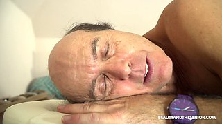 Hot doctor fucks her much older patient at work and she's so naughty