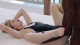 Blonde Gets BBC from Brothers Friend