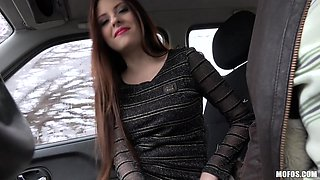 rebecca pays out for a ride with a blowjob