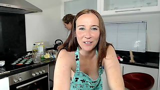 Naughty milf maid in the kitchen