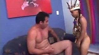 cute midget gets dick